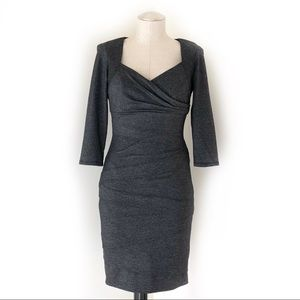 WHBM Instantly Slimming Dress in Charcoal Size 4
